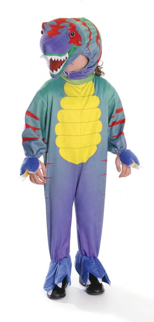 Childs Tyrannosaurus Colourful Costume Prehistoric Dinosaur Fancy Dress Outfit